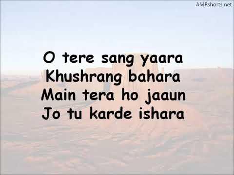 Tere Sang Yaara Lyrics Video Mp3