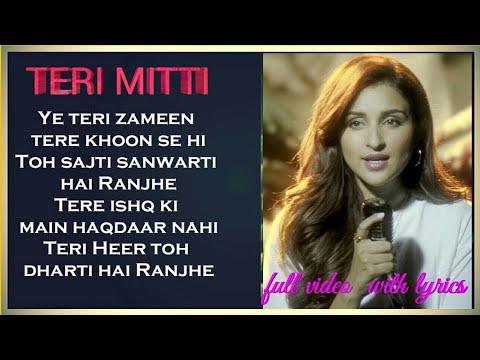 TERI MITTI FEMALE VERSION LYRICS   Arko feat. Parineeti Chopra   Akshay Kumar   Manoj Muntashir