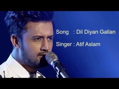 Dil Diyan Gallan | Atif aslam | Tiger Zinda Hai (2017) | Lyrics video | Salman Khan | Katrina Kaif