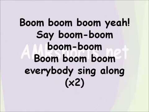 Boom Boom song Lyrics Video