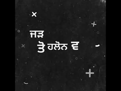 New Punjabi song WhatsApp status lyrics video in black screen   Punjabi Black background status new