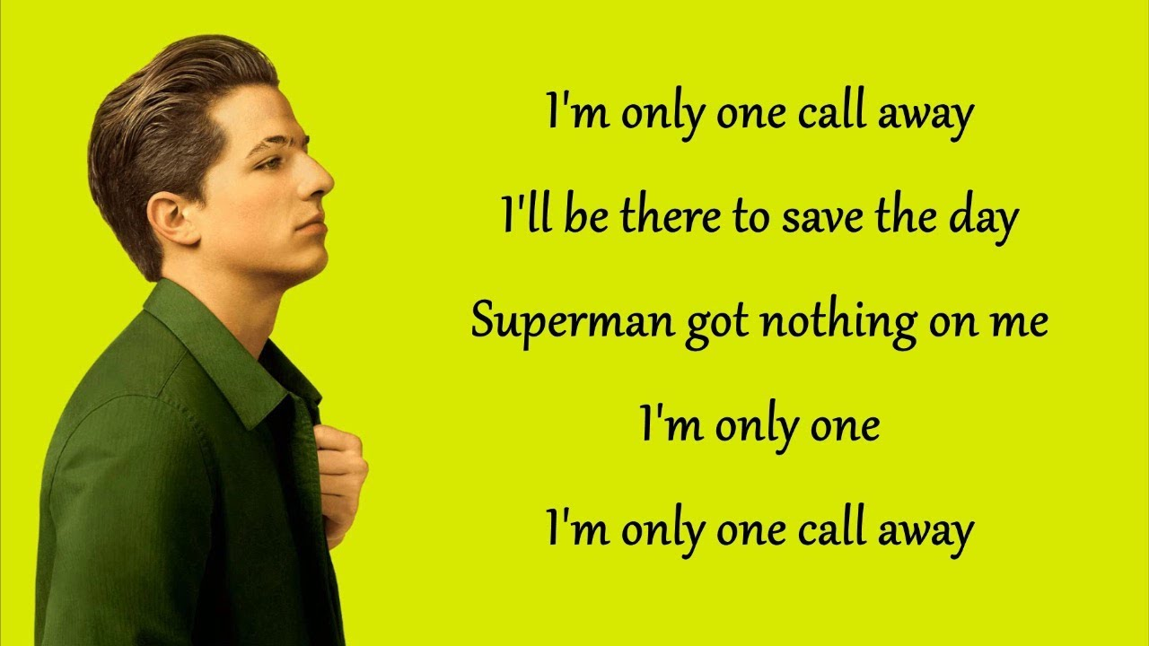 One Call Away – Charlie Puth (Lyrics)