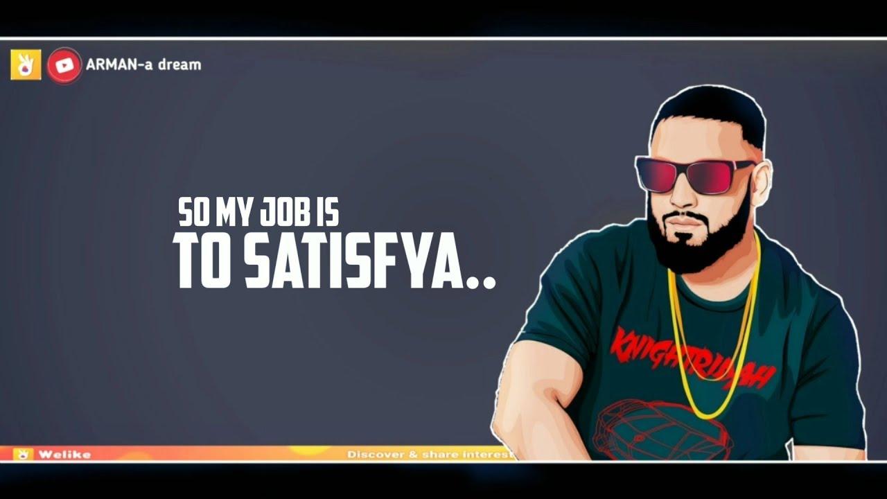 SATISFYA song status | IMRAN KHAN | new attitude whatsapp status lyrics video 2019