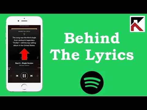 How To Find Song Lyrics Spotify (Behind the lyrics)
