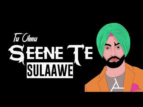 New Punjabi Sad Song Whatsapp status Lyrics Video in black Background 2019