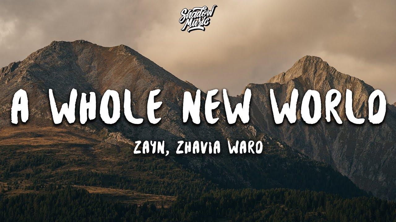 """ZAYN, Zhavia Ward – A Whole New World (Lyrics) (End Title) (From """"Aladdin"""")"""