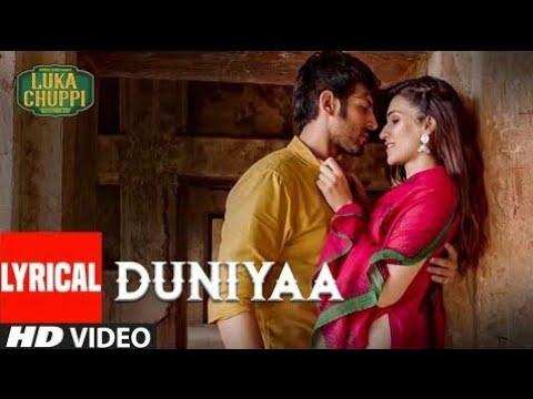 Duniyaa song lyrics video ||Luka cuppi||Rainbow Tube
