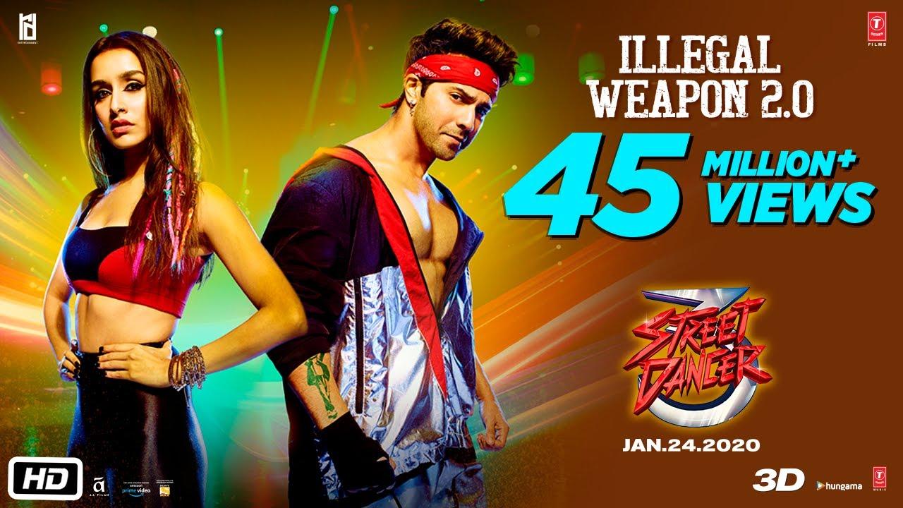 Illegal Weapon 2.0 – Street Dancer 3D | Varun D, Shraddha K | Tanishk B,Jasmine Sandlas,Garry Sandhu