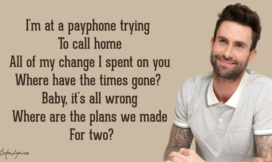 Payphone – Maroon 5 ft. Wiz Khalifa (Lyrics) 🎵