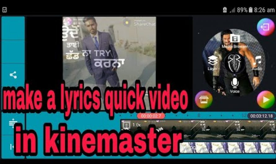 Without quick app WhatsApp status lyrics video in kinemaster |hindi tutorial |