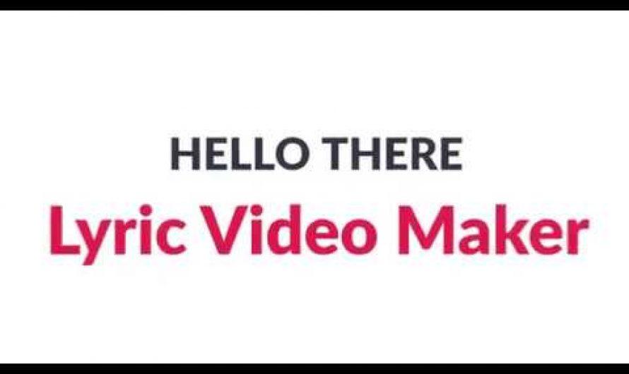 Lyric Video Maker, make a Lyric video within few steps.