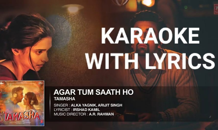 AGAR TUM SATH HO KARAOKE with lyrics // NEW HINDI VIDEO 2020