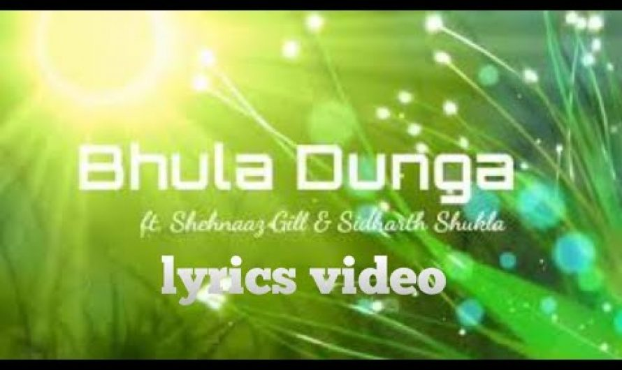 Bhula Dunga(lyric) – Darshan Raval _ Lyrics Video _ Sidharth Shukla _ Shehnaaz Gill