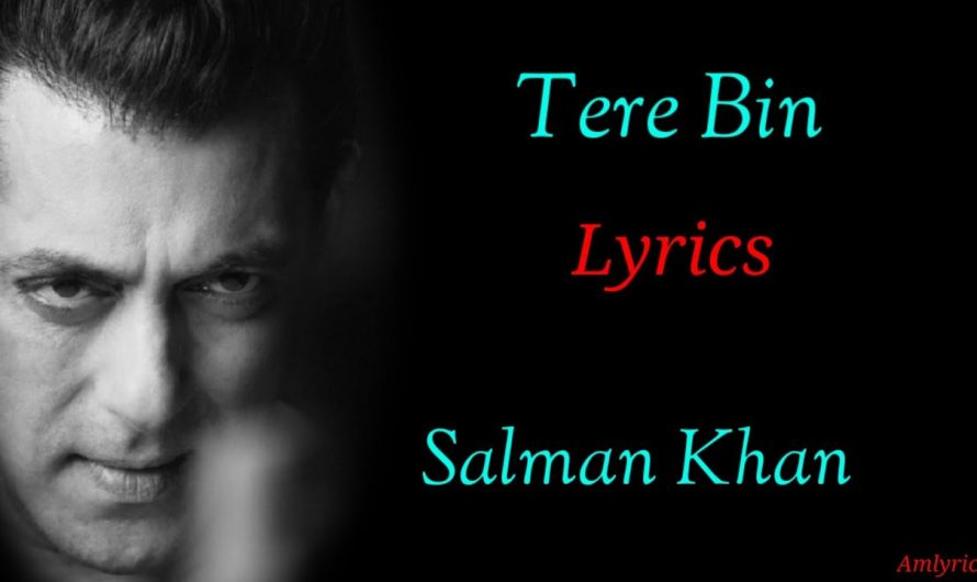 (LYRICS):Tere Bin |Salman Khan |Jacqueline Fernandez|Ajay Bhatia |New Hindi Songs 2020