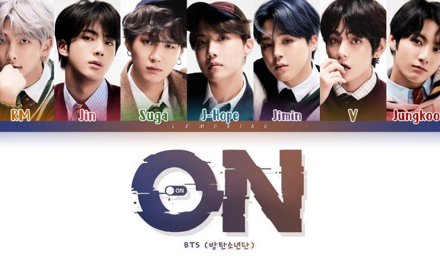 BTS ON Lyrics (방탄소년단 ON 가사) [Color Coded Lyrics/Han/Rom/Eng]