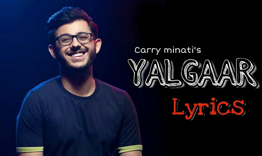 carryminati's yalgaar songs hindi lyrics || Carry minati new video 2020 || YALGAAR full video 2020