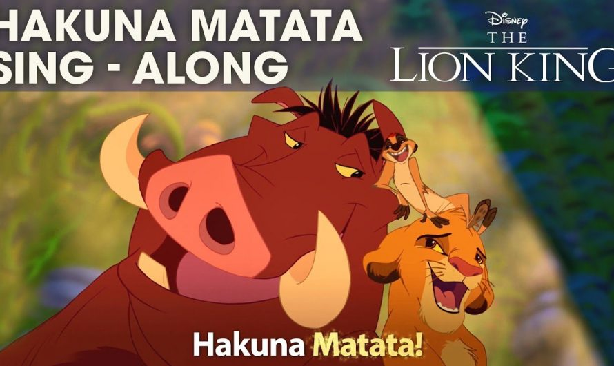 DISNEY SING-ALONGS | Hakuna Matata – The Lion King Lyric Video | Official Disney UK