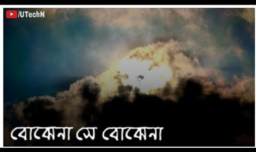 Bojhena Shey Bojhena || বোঝেনা সে বোঝেনা || Lyrics video || WhatsApp Status 2020 || Bengali status