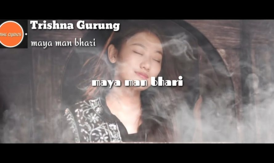 Trishna Gurung || maya man bhari lyrics video By NHE LYRICS