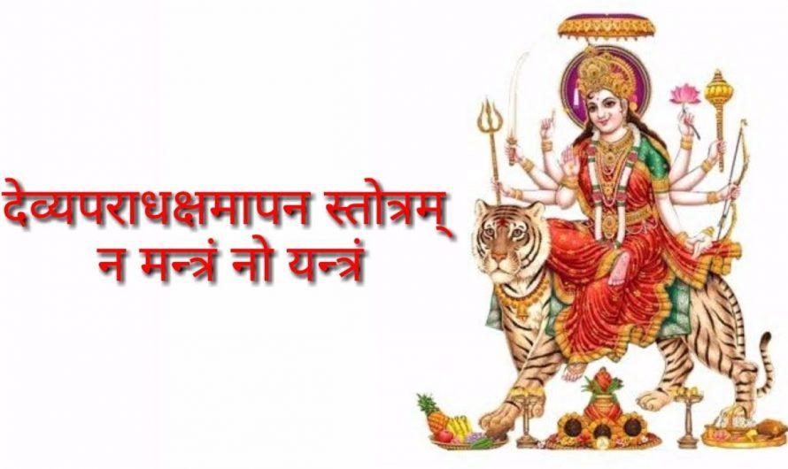 Na Mantram No Yantram – Devi Aparadha Kshamapana Stotram Sanskrit Lyrics Video