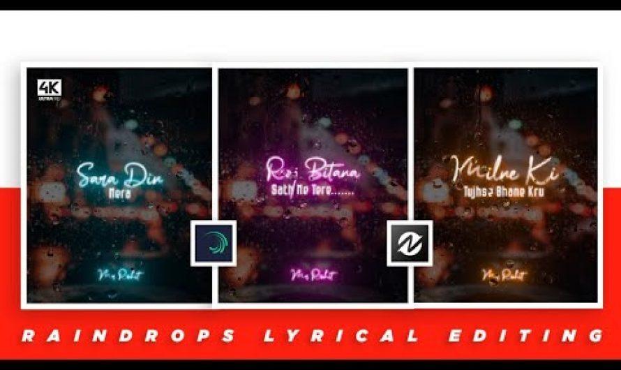 Rain drops Lyrics video editing like Ae 🔥 Alight motion + Node video tutorial | in Hindi