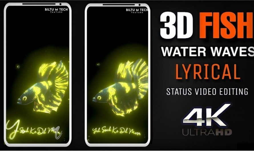 Glow Lyrics Video Editing – Alight Notion Tutorial – 3d Glow Fish Lyrics Video – BILTU M TECH