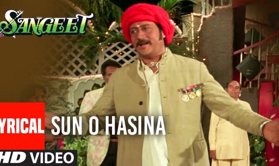 Sun O Haseena Kajal Wali Lyrical Video Song | Sangeet | Jackie Shroff, Madhuri Dixit