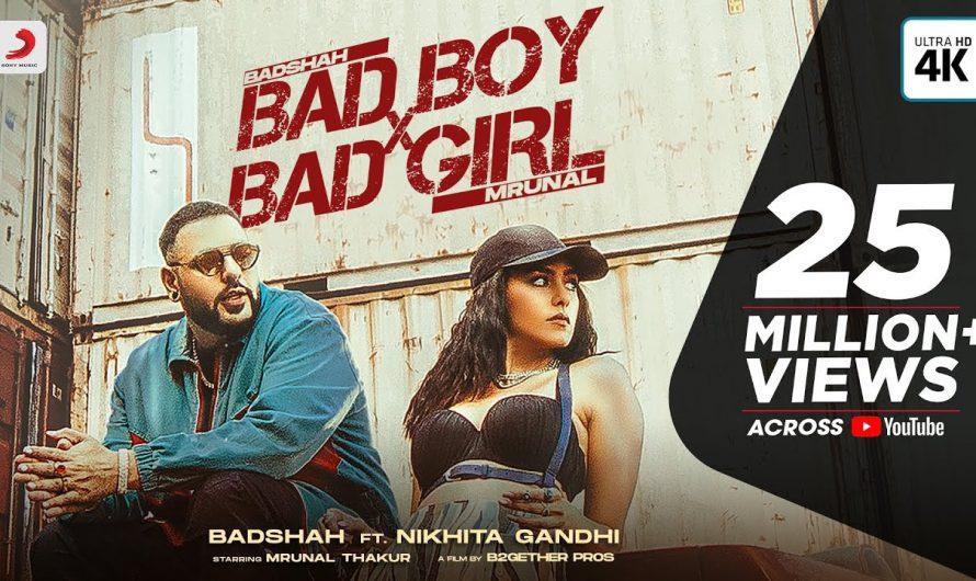 Badshah – Bad Boy x Bad Girl   Mrunal Thakur   Nikhita Gandhi   Trending Dance Party Hit 2021