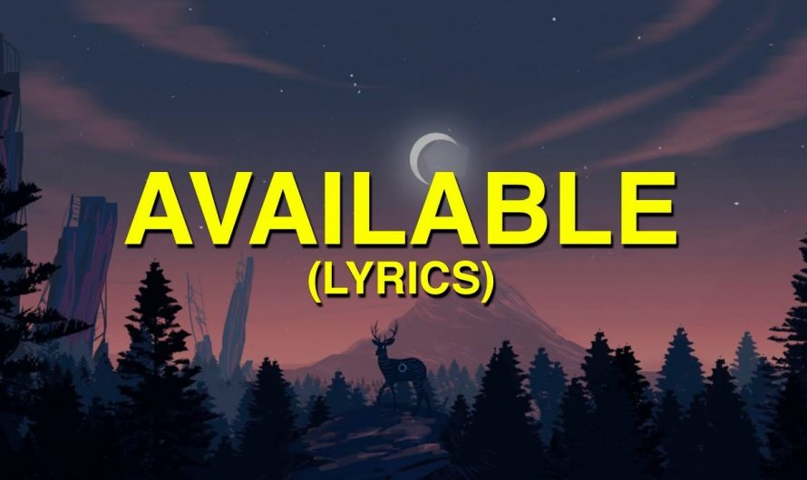 Justin Bieber – Available (Lyrics)